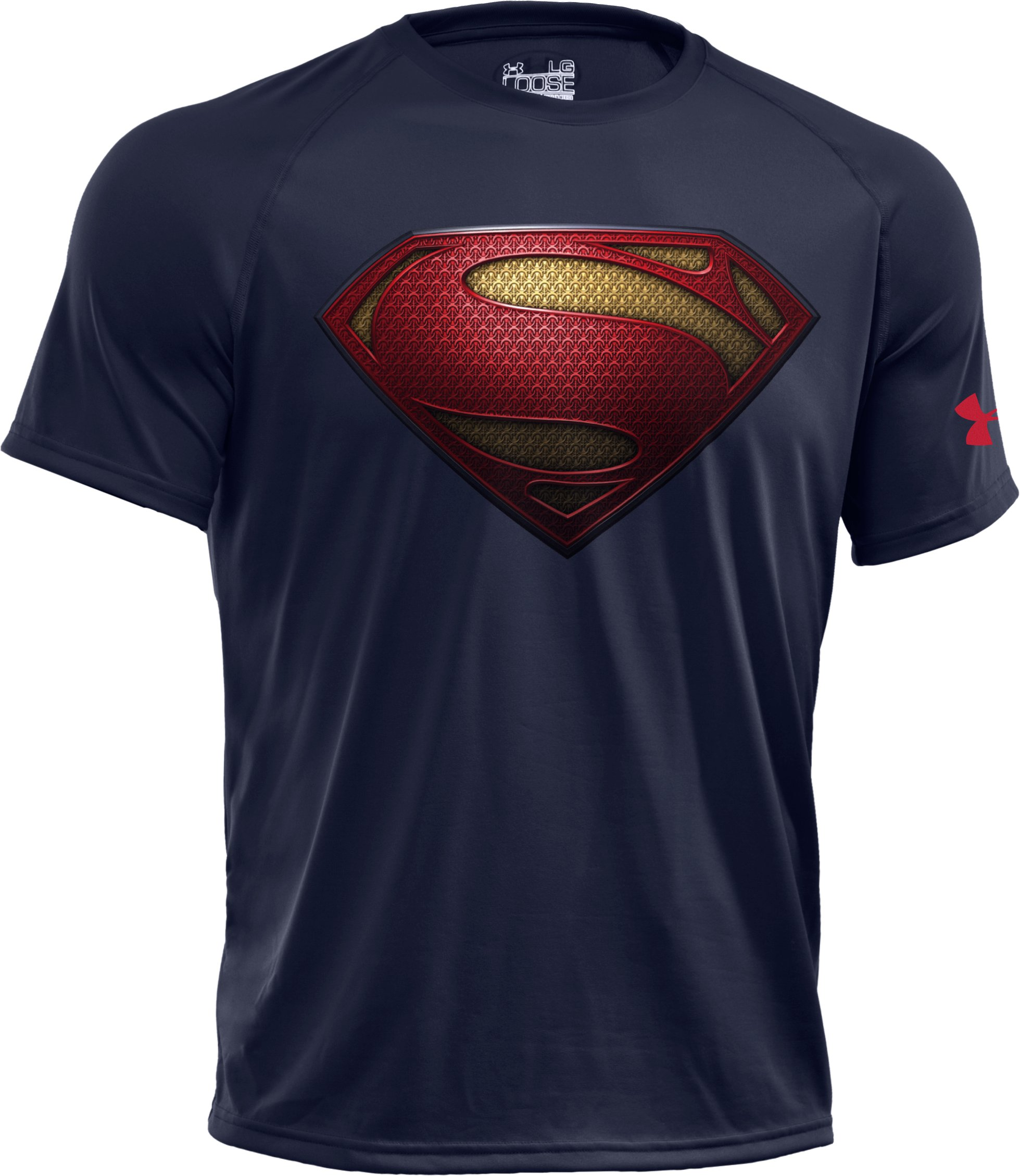 Men's Under Armour® Alter Ego Man Of Steel Logo T-Shirt, Midnight Navy