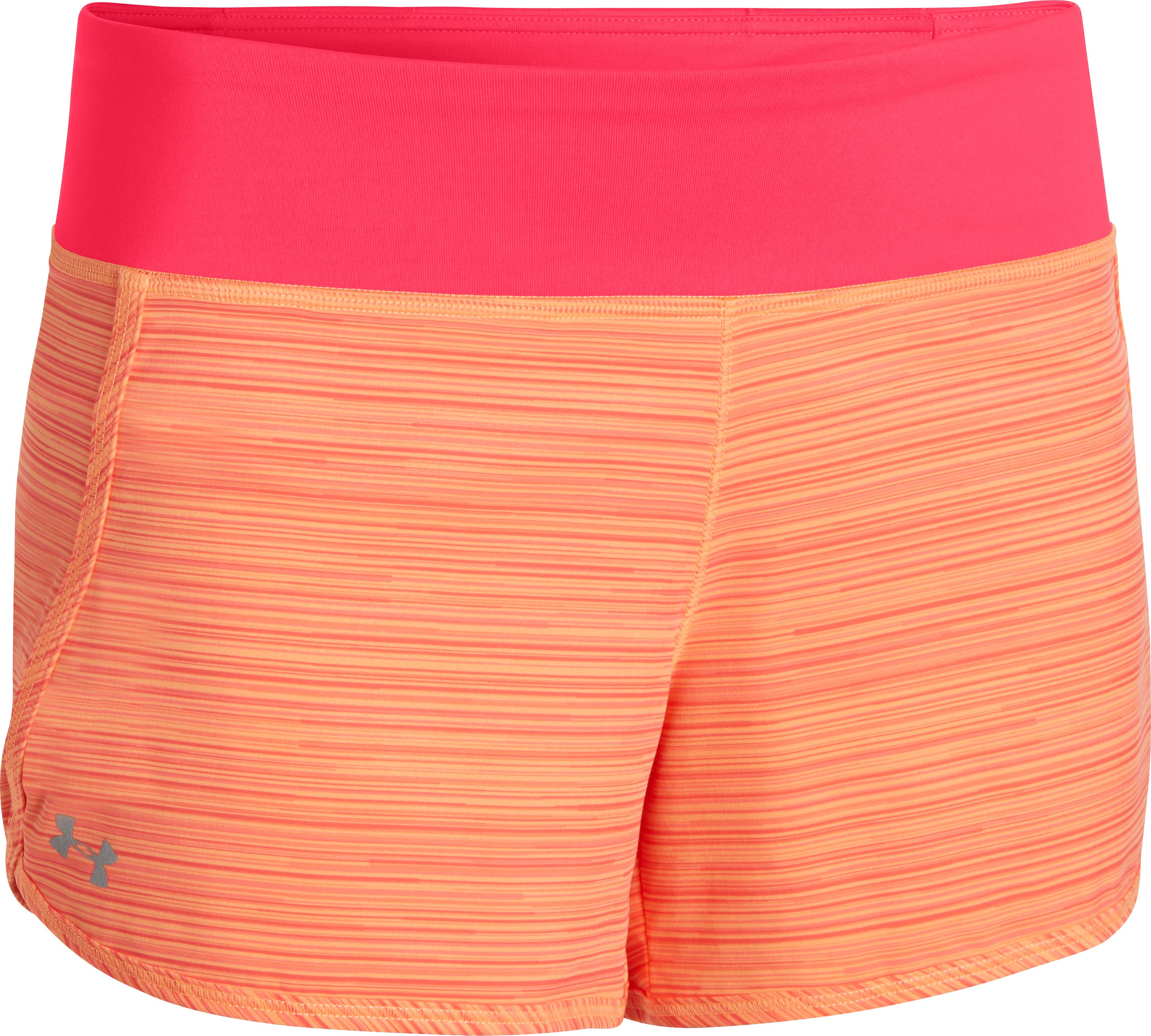 Women's UA Printed Get Going Shorts, Afterglow