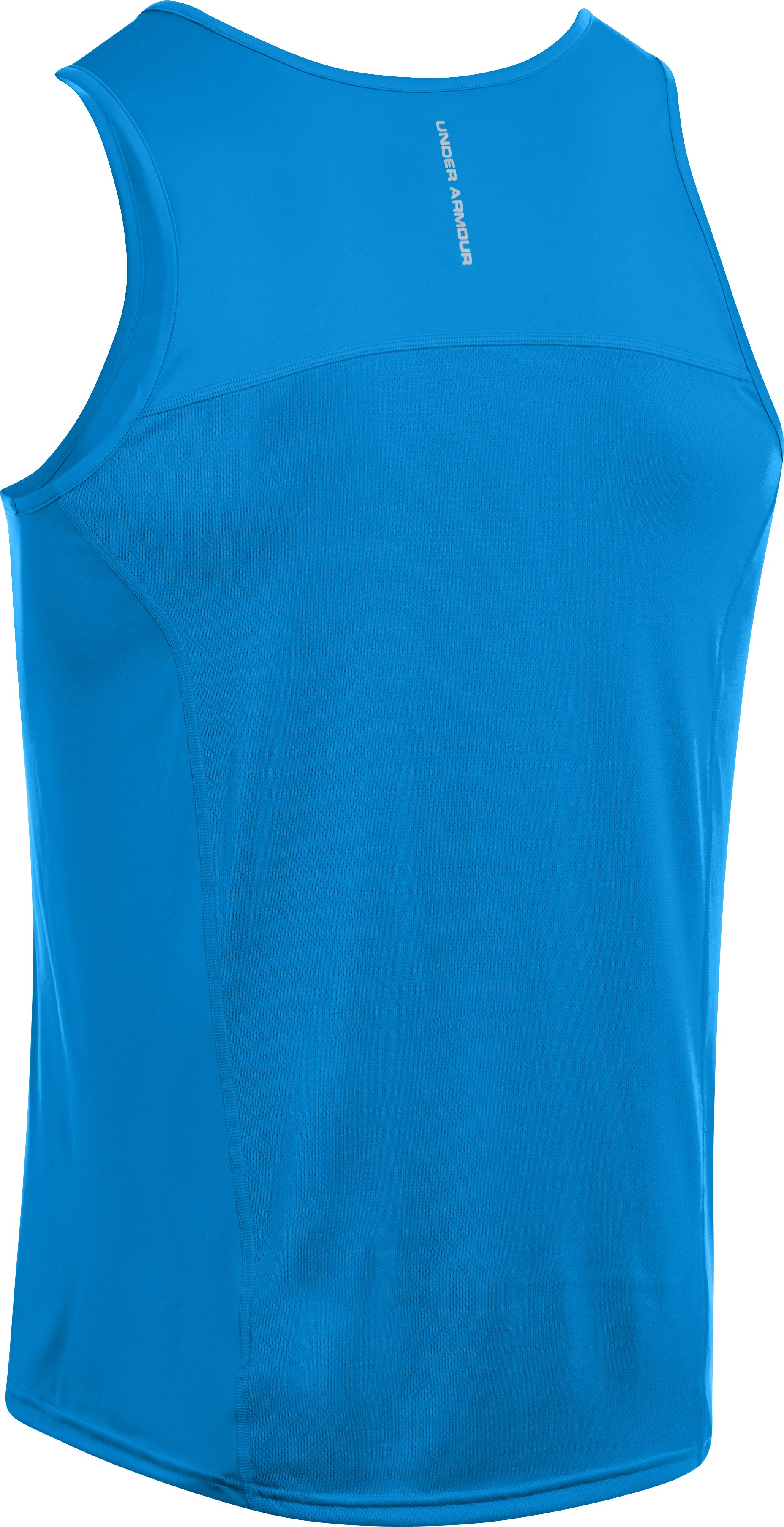 Men's UA HeatGear® Flyweight Run Singlet, ELECTRIC BLUE