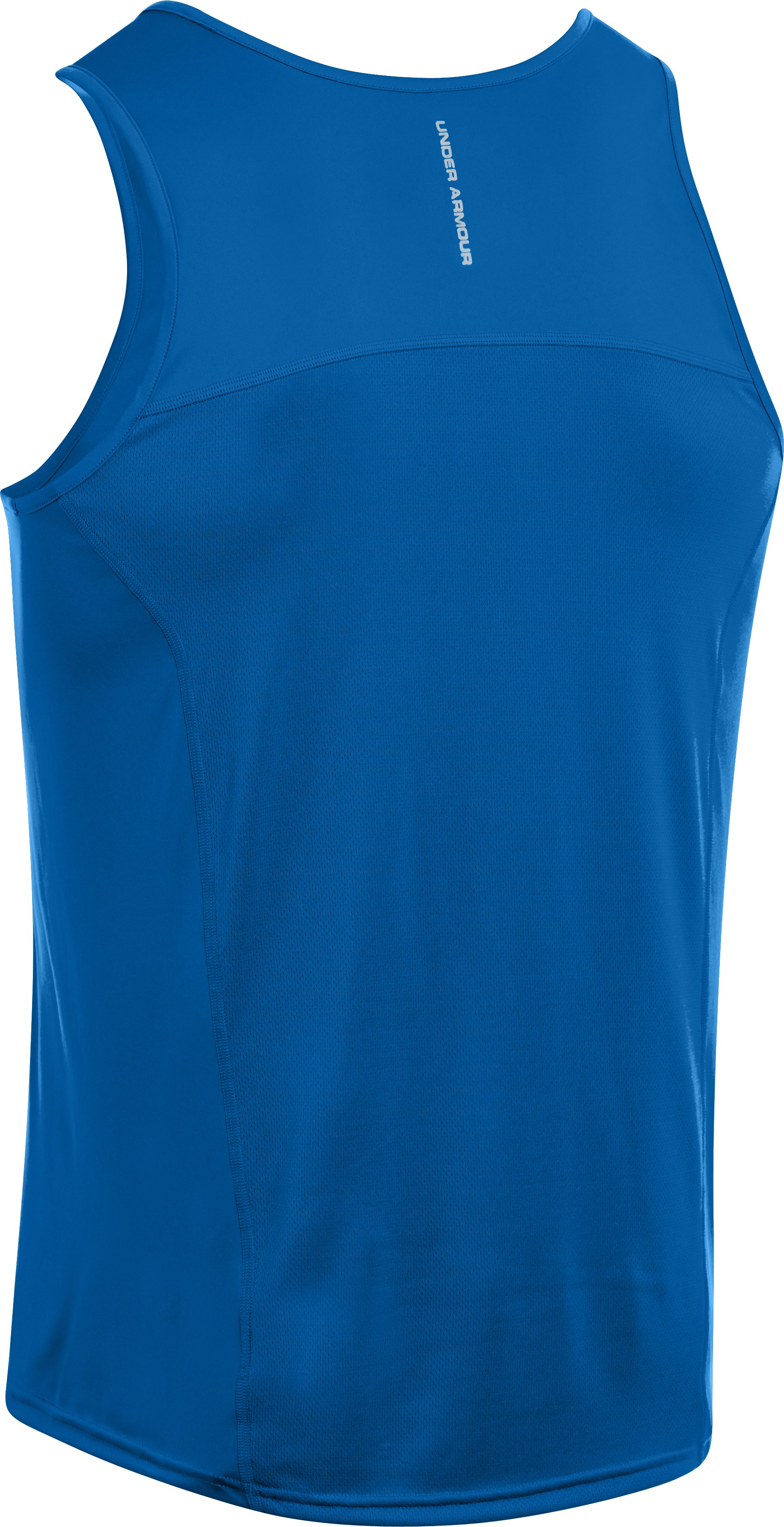 Men's UA HeatGear® Flyweight Run Singlet, SUPERIOR BLUE