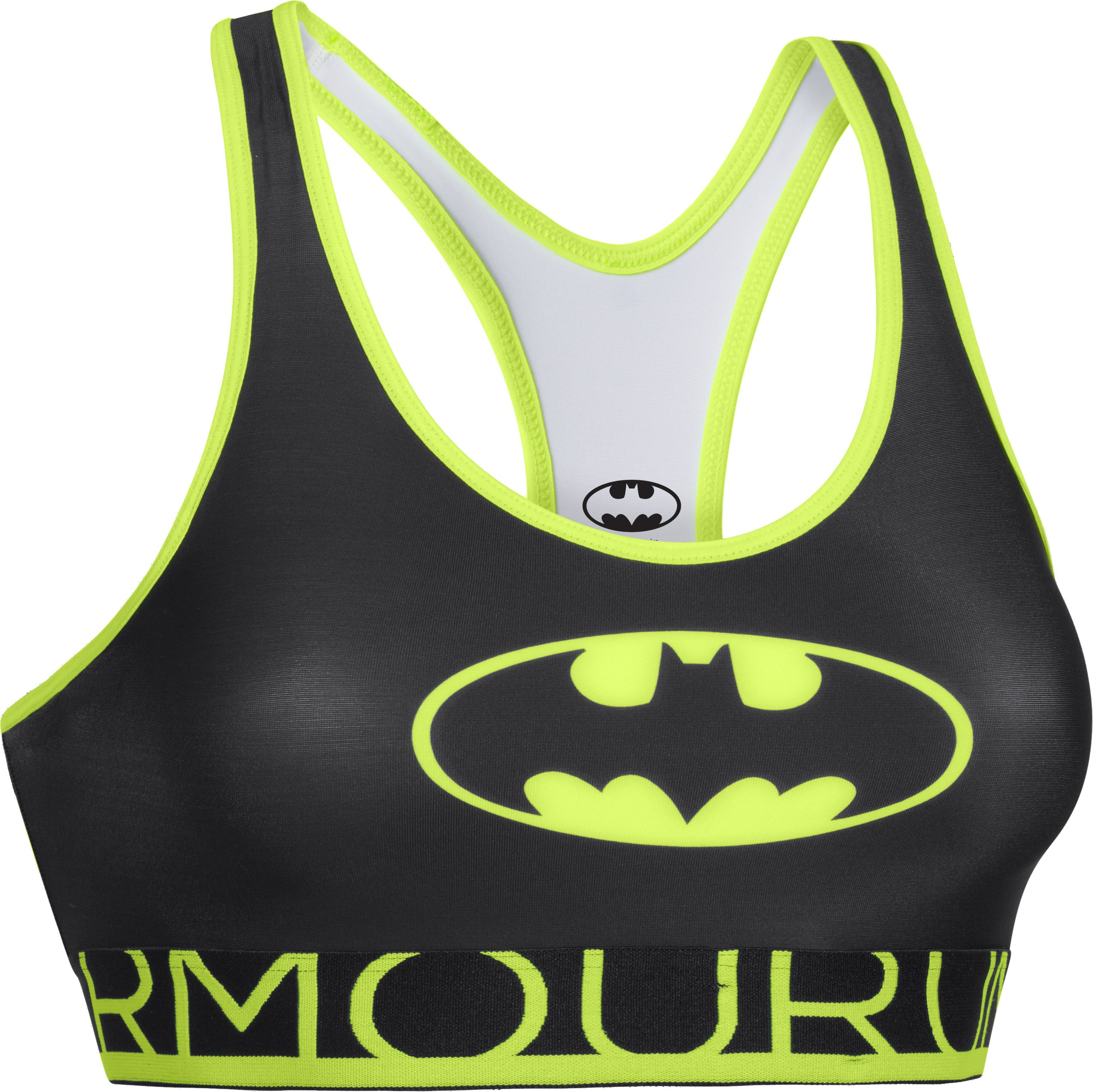Women's Under Armour® Alter Ego HeatGear® Armour Batgirl Sports Bra, Black , undefined
