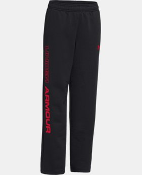 Boys' UA Storm Armour® Fleece Script Pants  1 Color $29.99