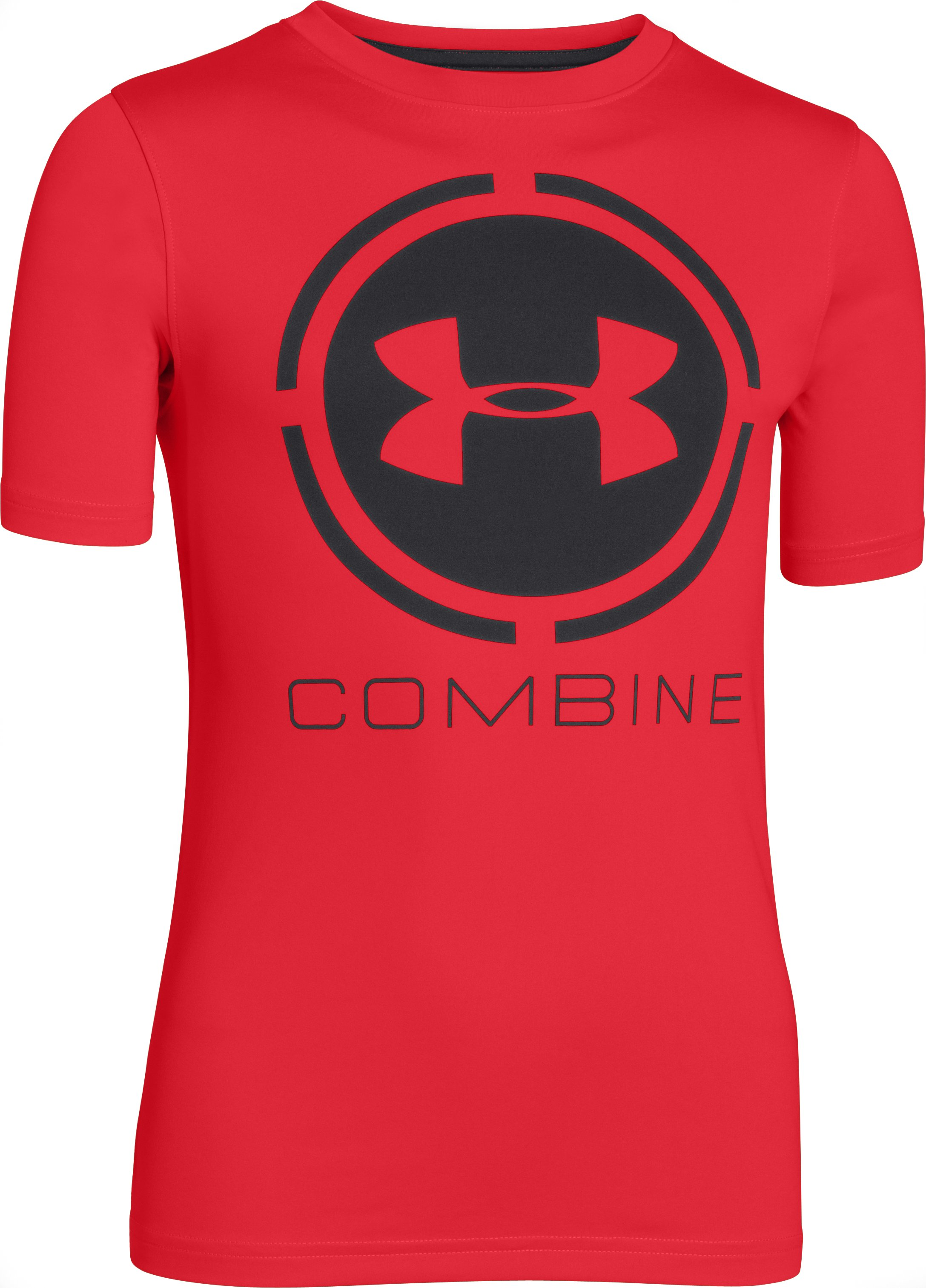 Boys' UA Combine® Training T-Shirt, RISK RED, zoomed image