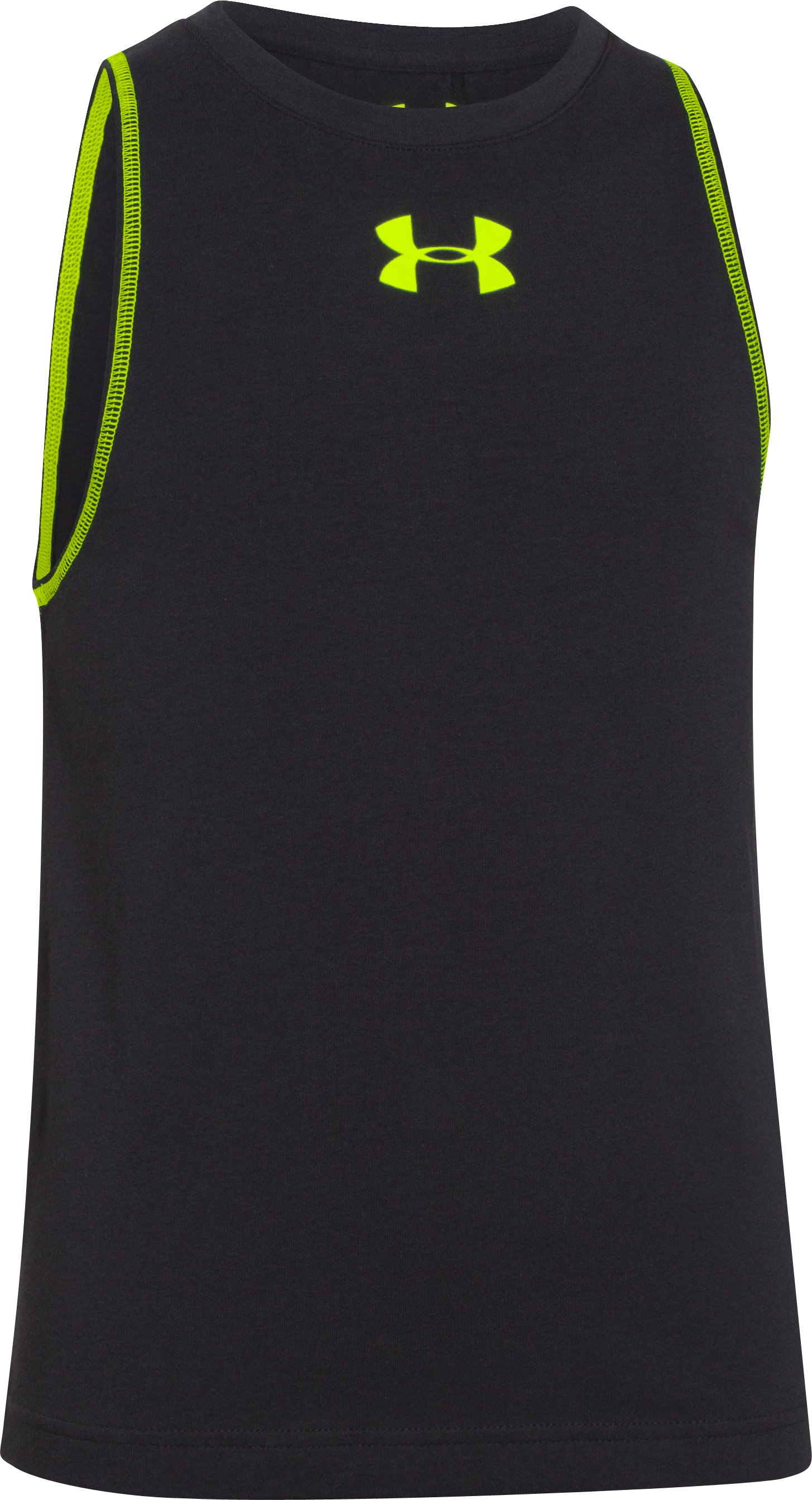 Boys' Charged Cotton® Tank, Black