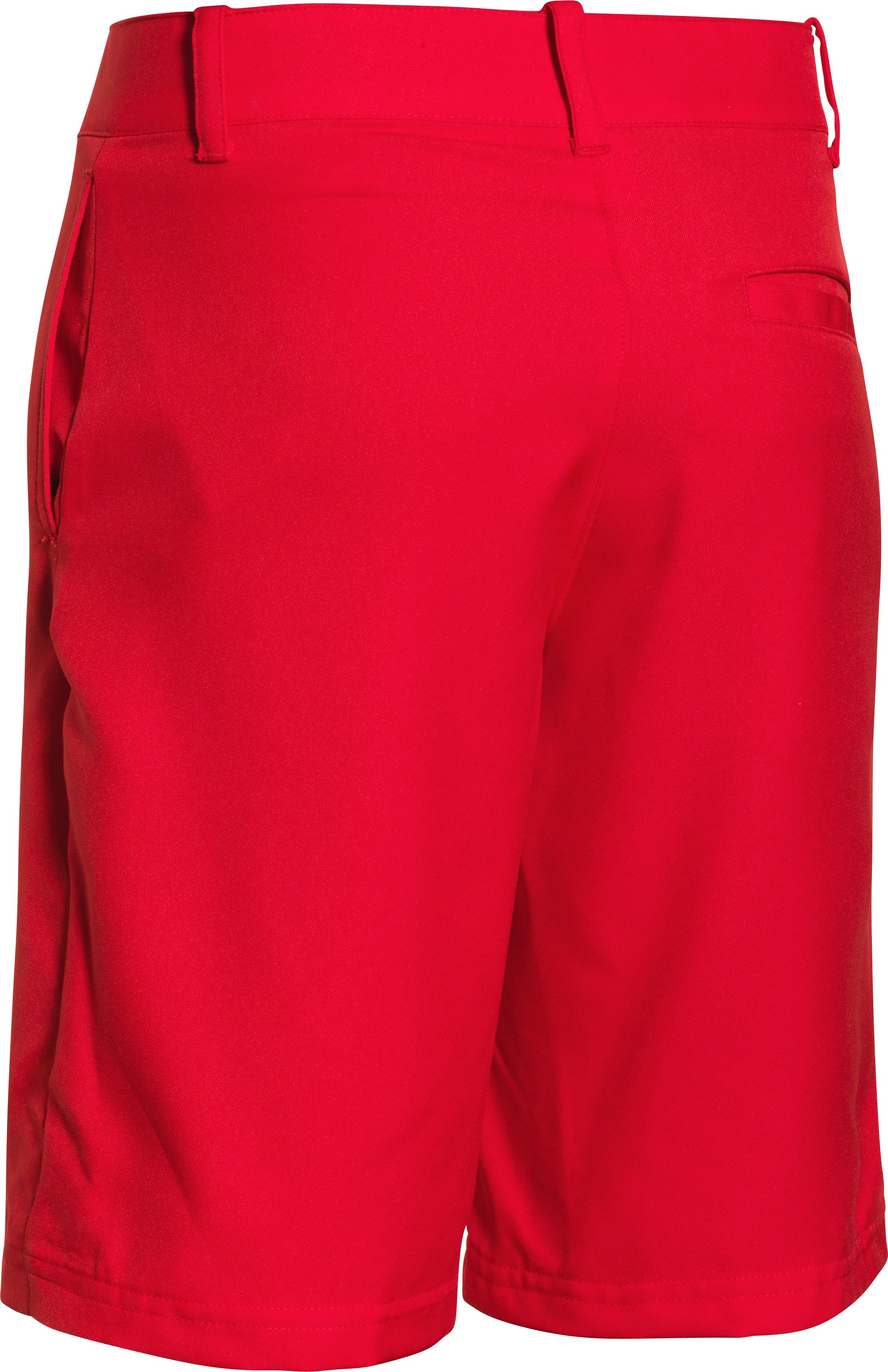 Boys' UA Medal Play Golf Shorts, RISK RED