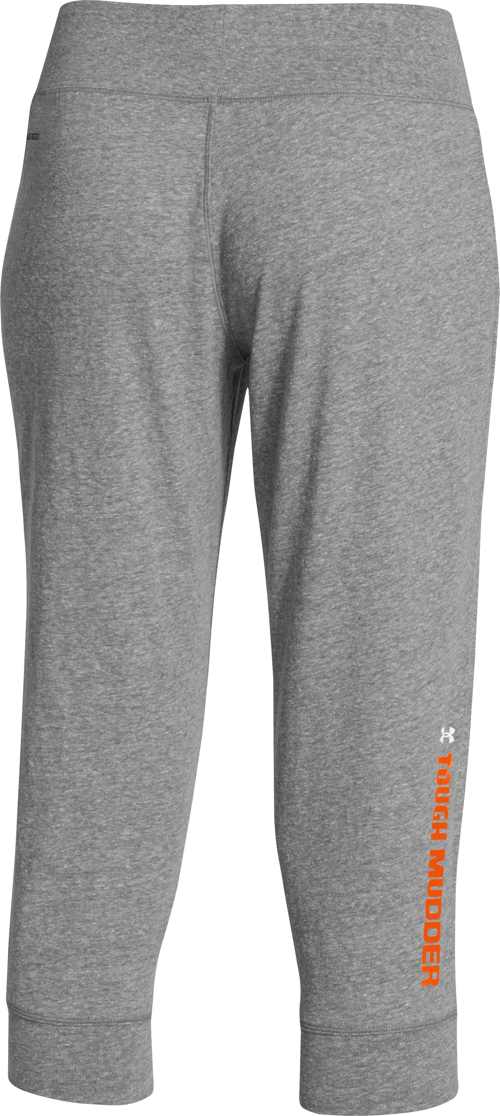 Women's Tough Mudder Charged Cotton® Legacy Capri, Charcoal, undefined