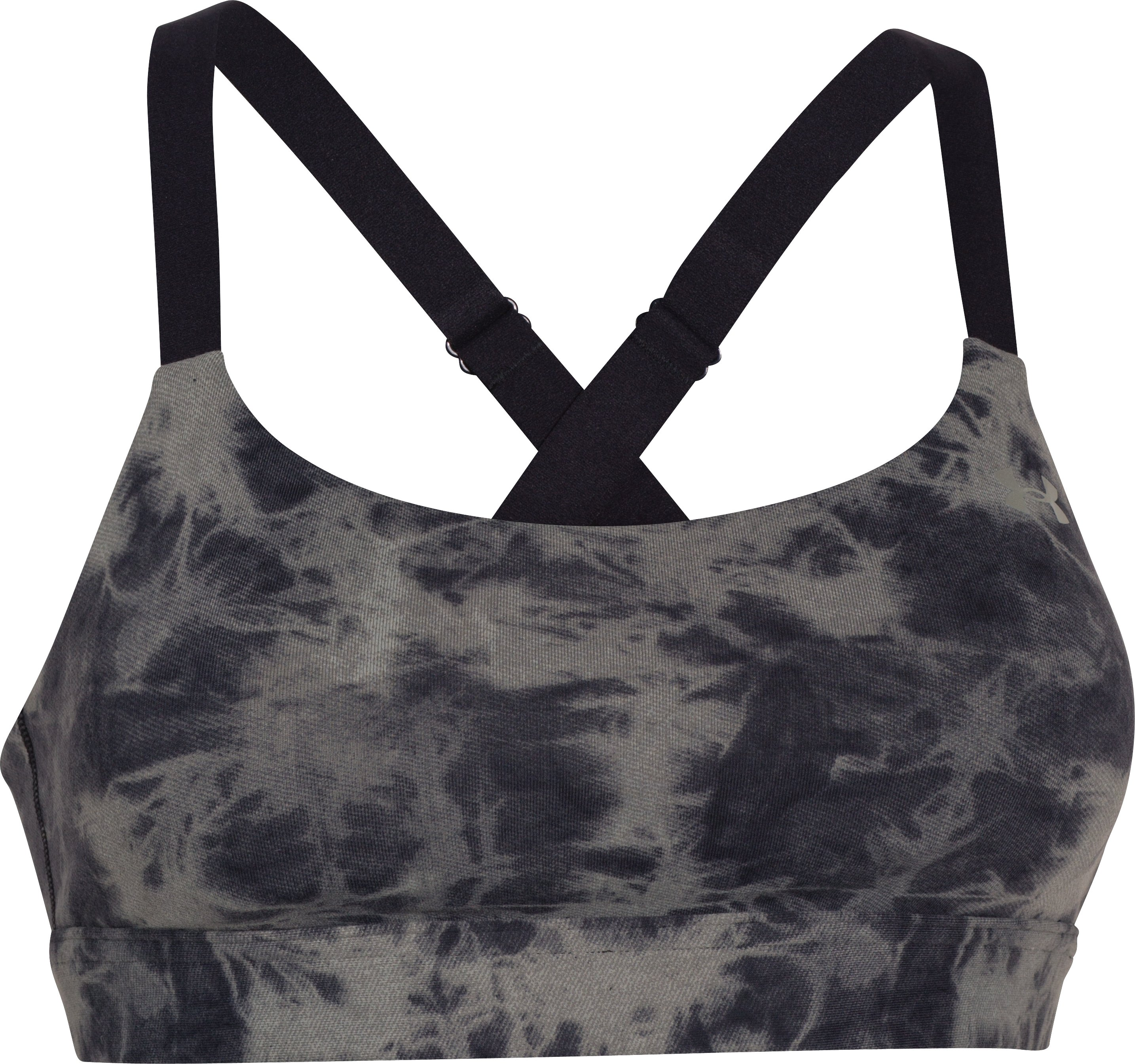 Women's UA Eclipse Printed Sports Bra, Black
