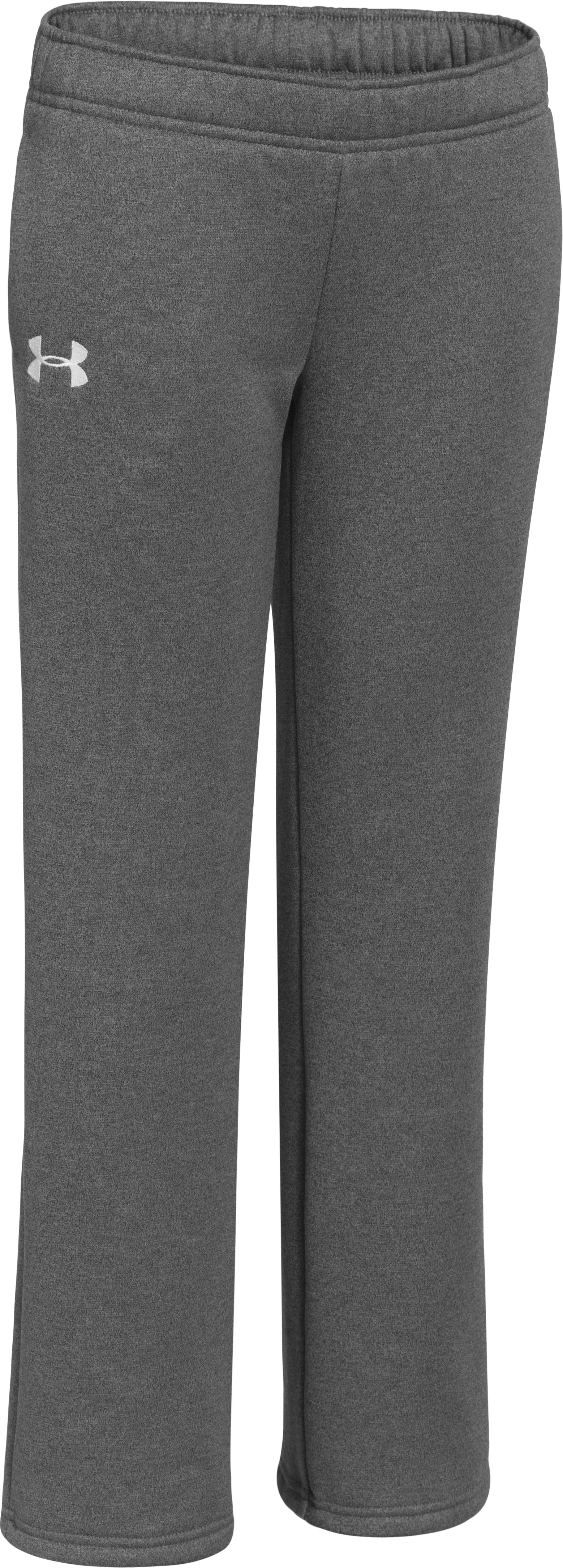 Girls' UA Armour® Fleece Pant 2.0, Carbon Heather, zoomed image