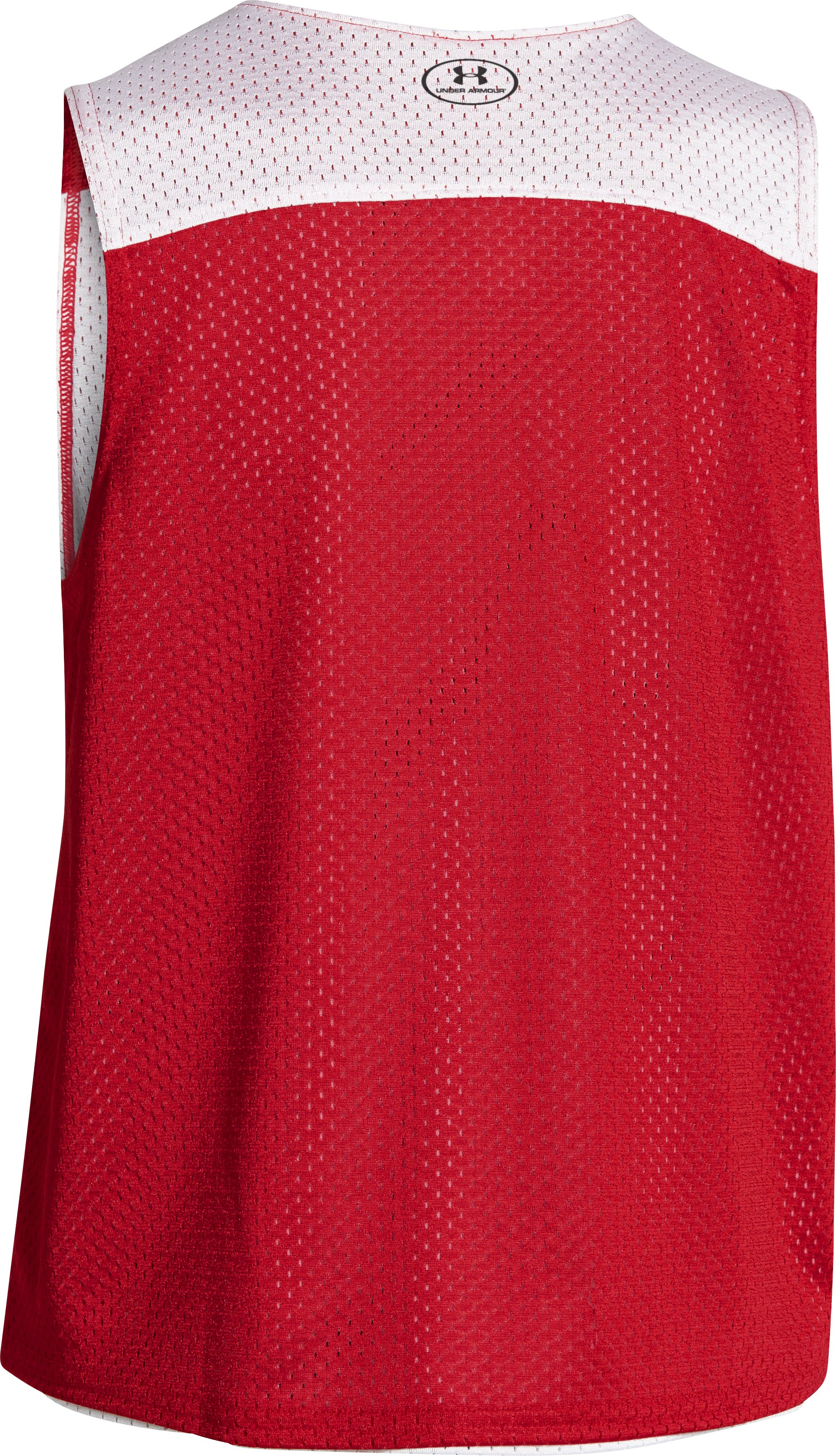 Boys' UA Lacrosse Reversible Pinny, Red, undefined
