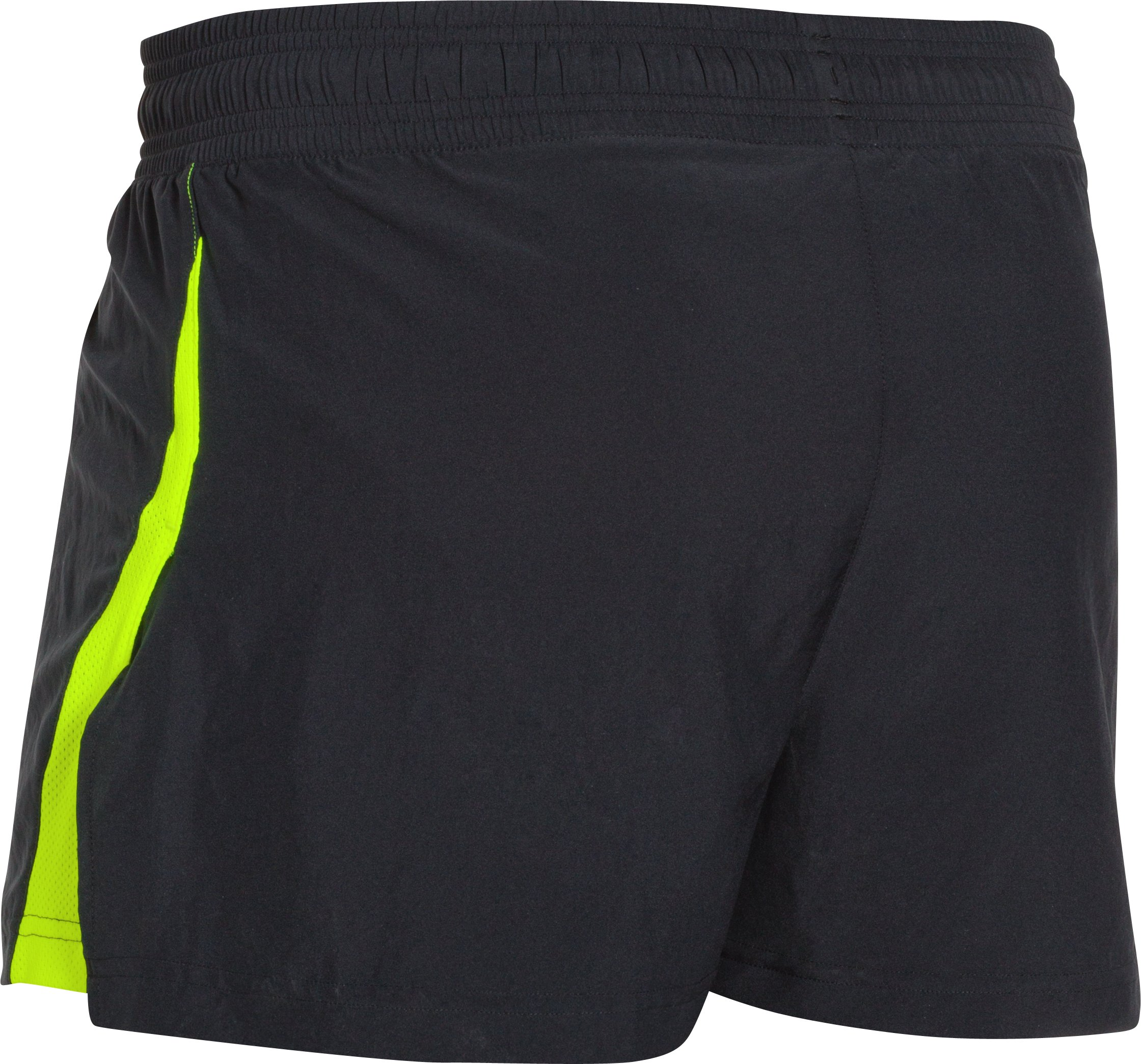 Men's UA Launch Split Run Shorts, Black ,