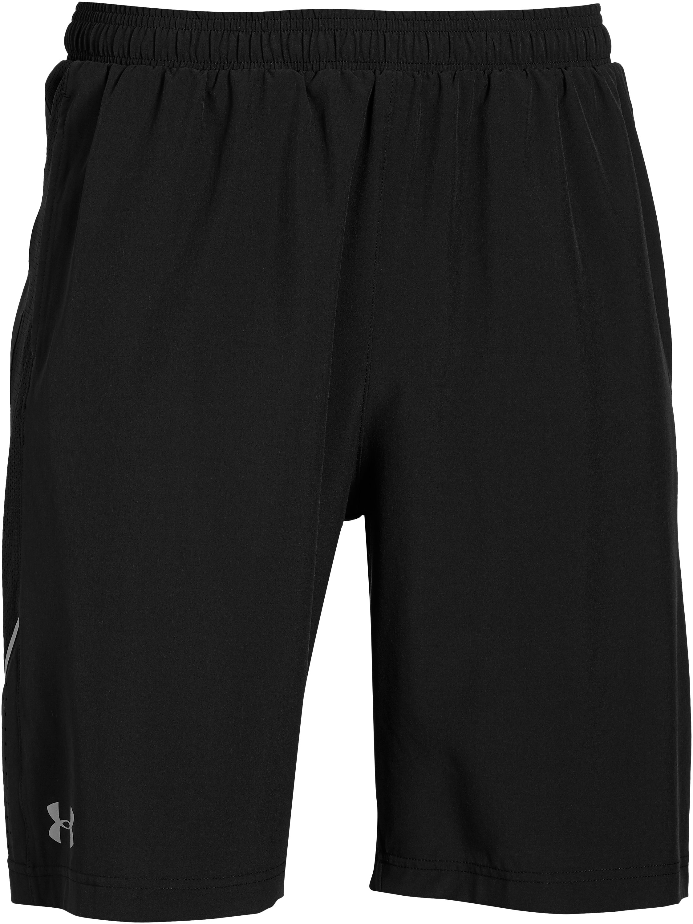 "Men's UA Launch Stretch Woven 9"" Run Shorts, Black ,"