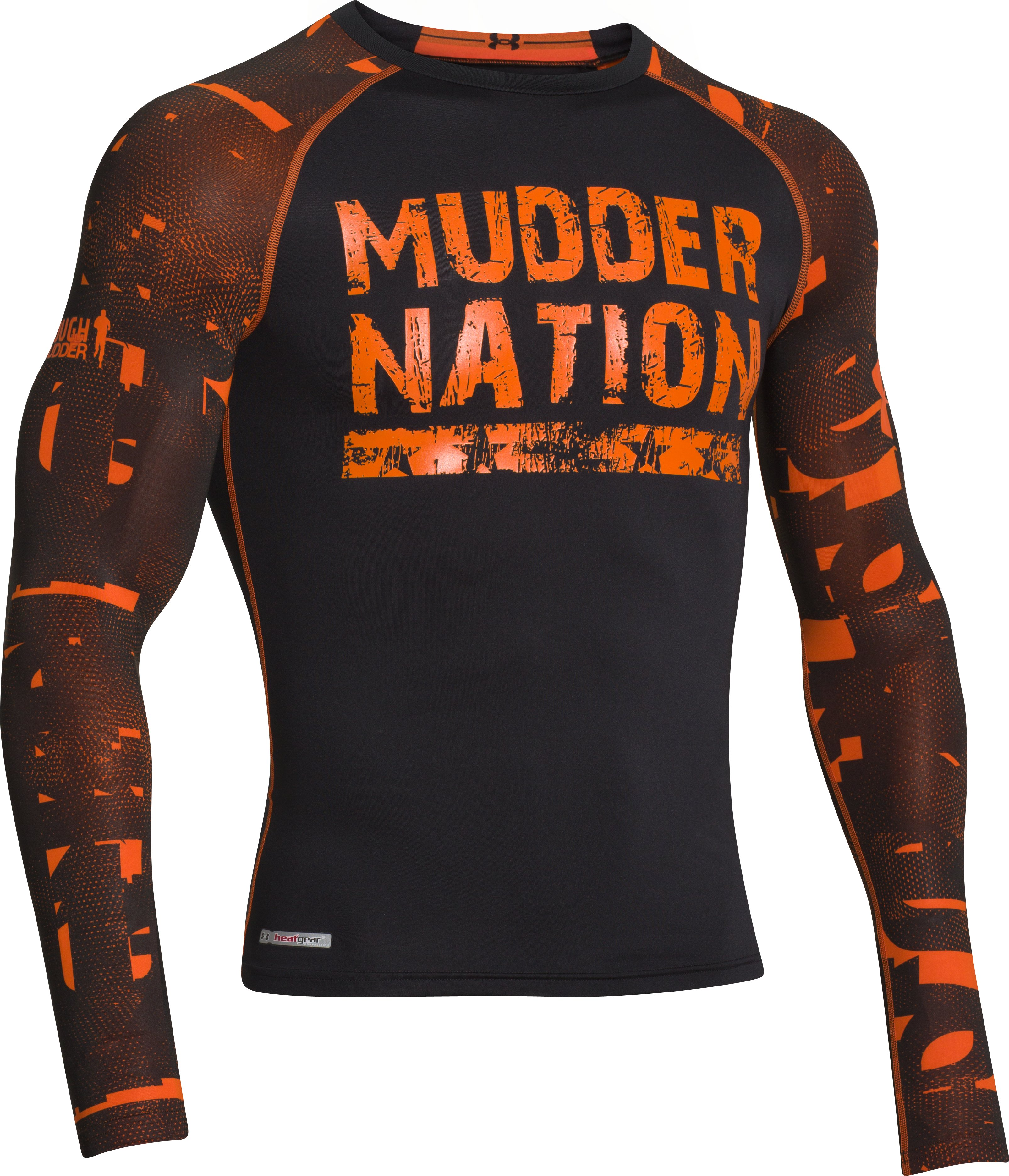 Men's UA Tough Mudder Graphic Compression Long Sleeve, Black , undefined