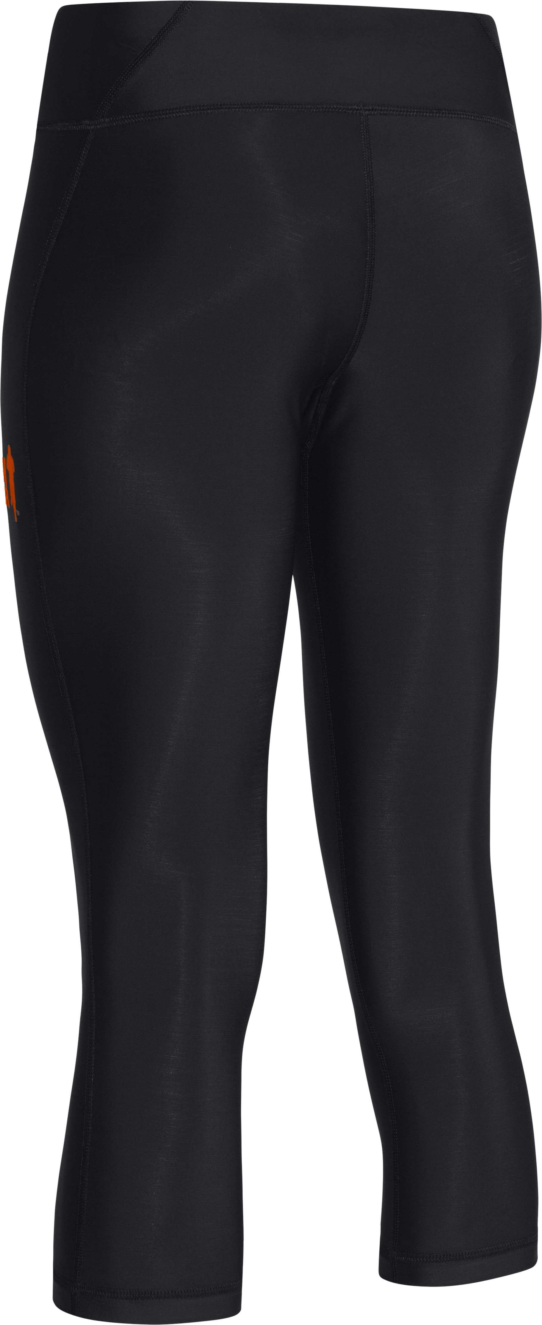 "Women's Tough Mudder UA Authentic 17"" Capri, Black"