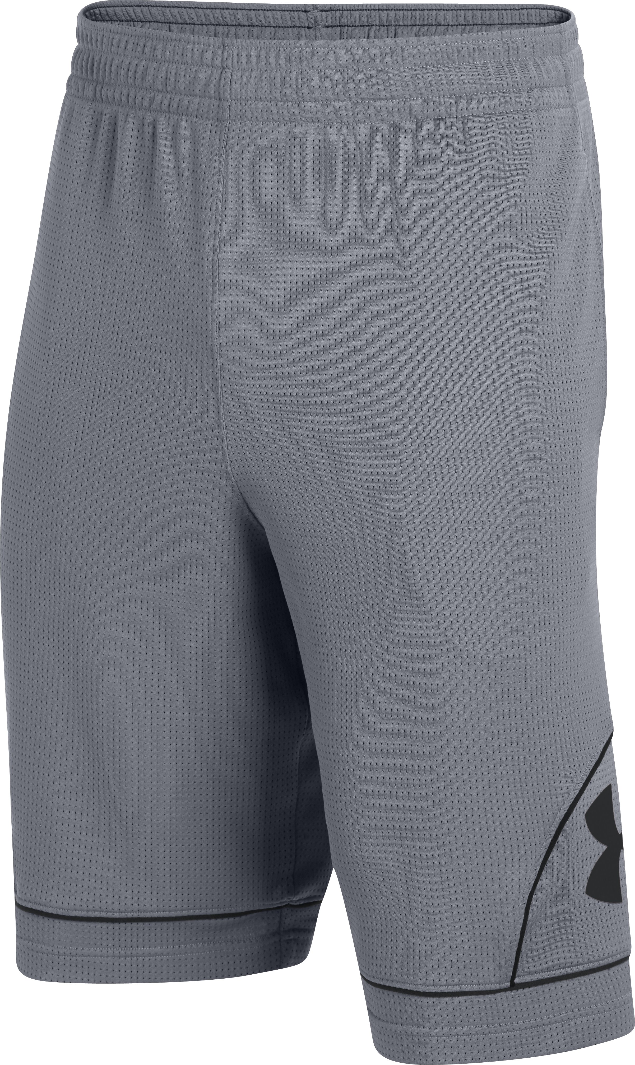 Men's UA Freight Game Solid Shorts, Steel