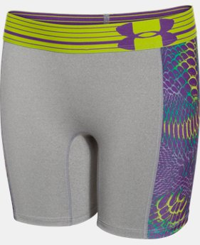 "Girls' UA HeatGear® Armour 5"" Printed Short  2 Colors $14.99"