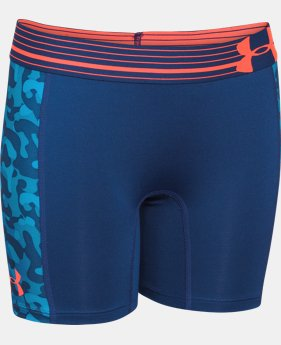"Girls' UA HeatGear® Armour 5"" Printed Short LIMITED TIME: FREE U.S. SHIPPING 1 Color $11.24"
