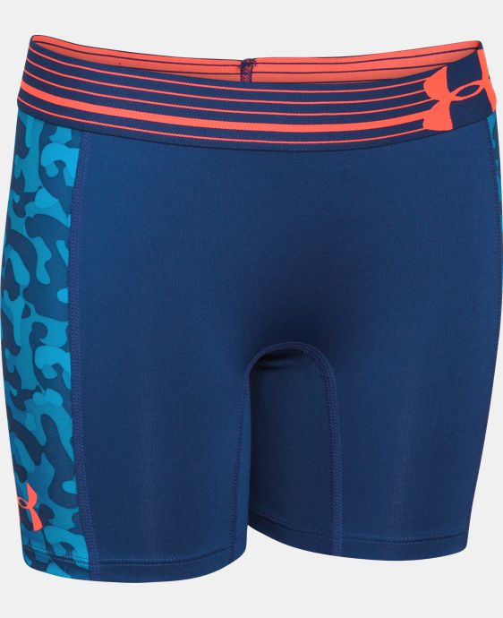 "Girls' UA HeatGear® Armour 5"" Printed Short  1 Color $11.24"