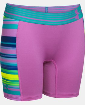 "Girls' UA HeatGear® Armour 5"" Printed Short LIMITED TIME: FREE U.S. SHIPPING 3 Colors $11.24 to $14.99"