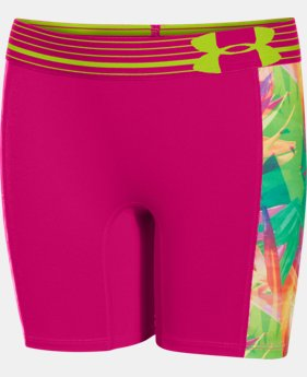 "Girls' UA HeatGear® Armour 5"" Printed Short LIMITED TIME: FREE U.S. SHIPPING  $11.24 to $14.99"