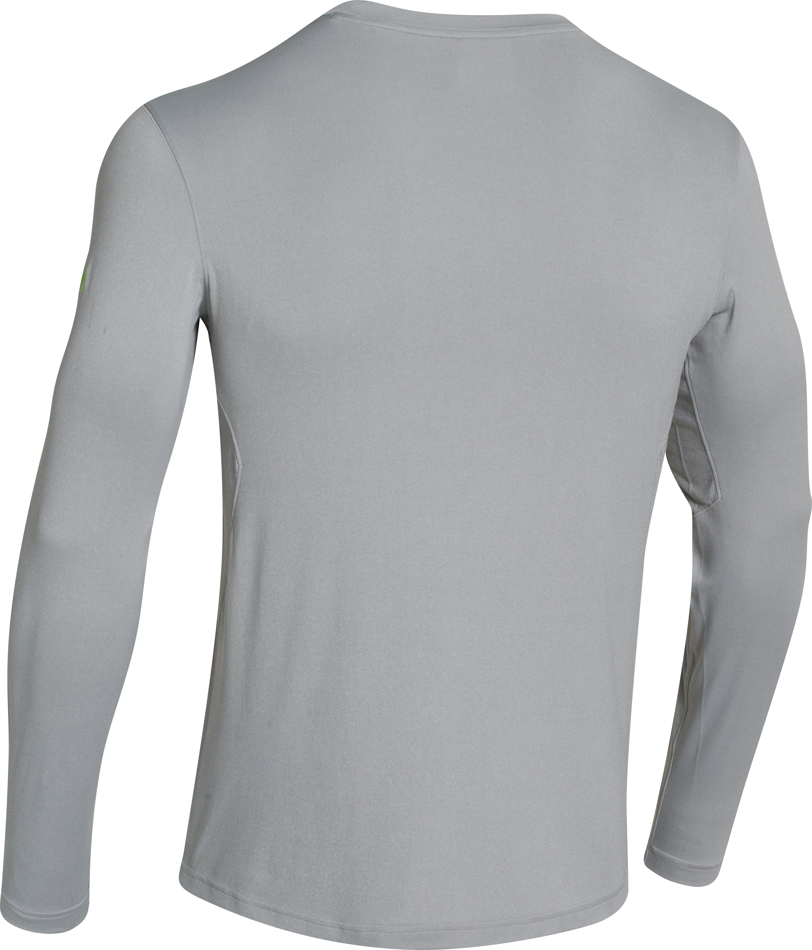 Men's UA Iso-Chill Element Long Sleeve Shirt, True Gray Heather,