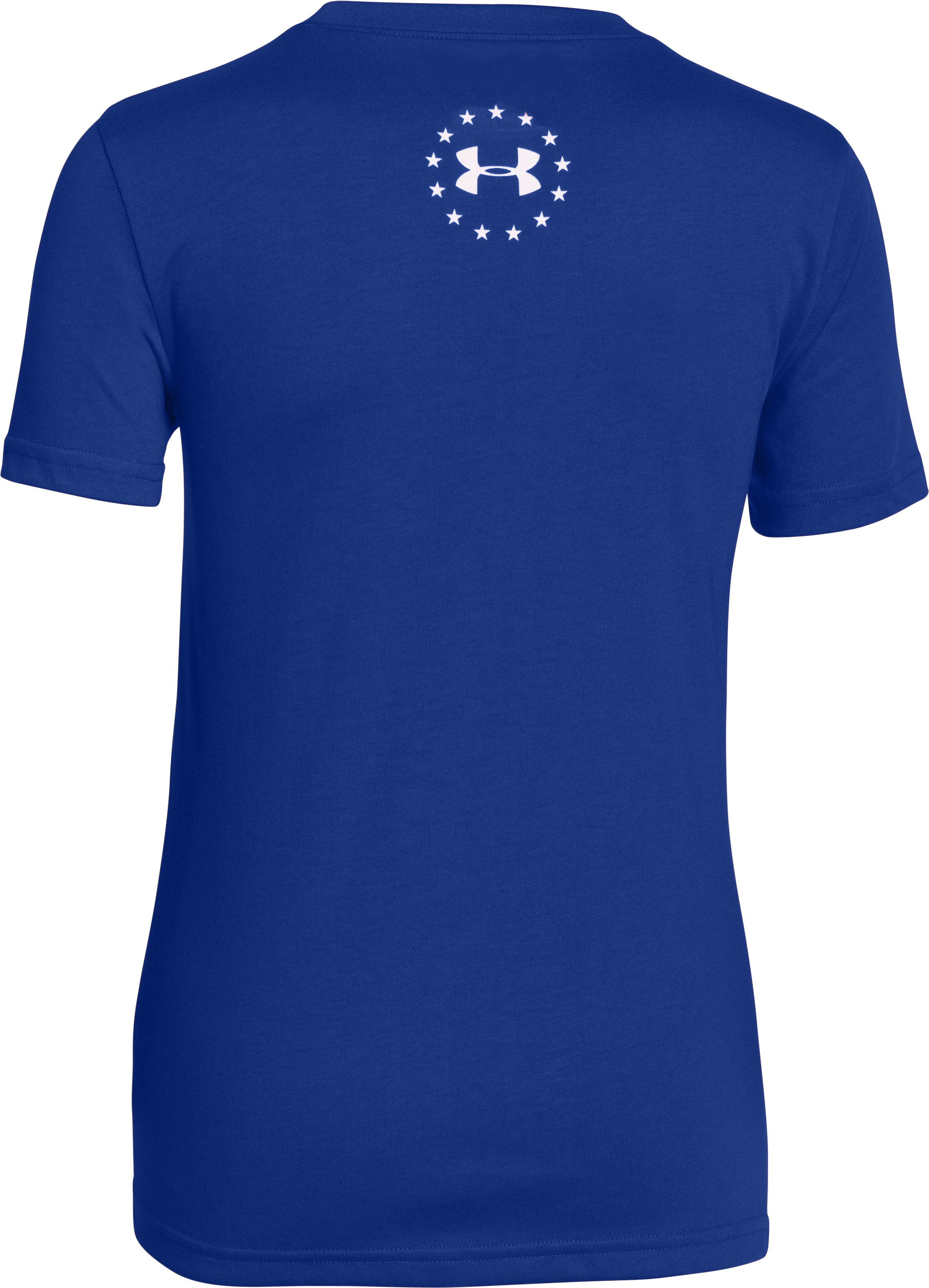 Boys' UA Big Flag Logo T-Shirt, Royal