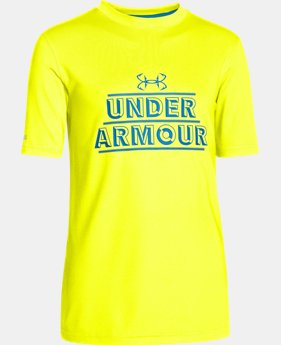 Boys' UA Iso-Chill Short Sleeve Shirt  1 Color $17.99