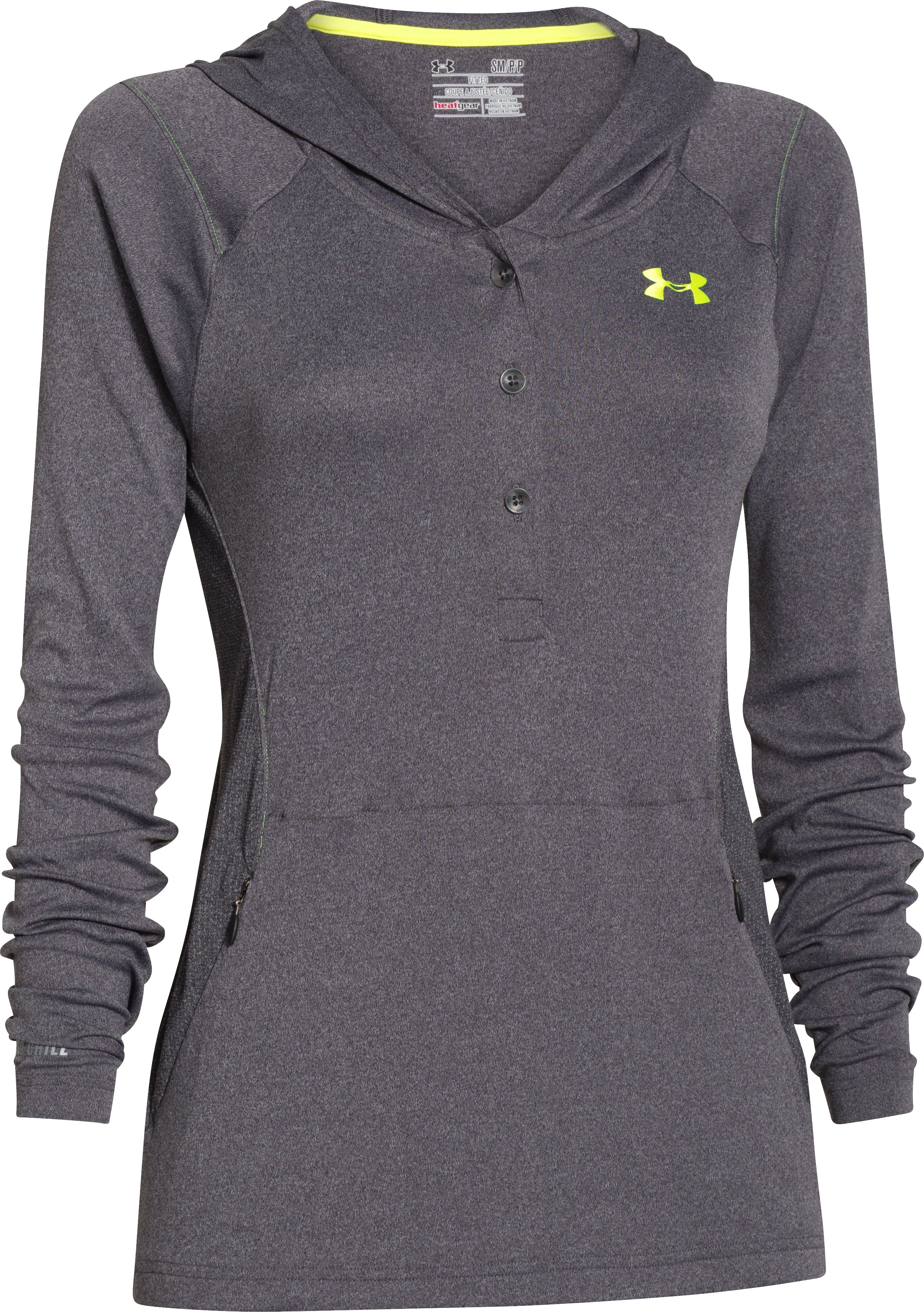 Women's UA Iso-Chill Meridian Hoody, Carbon Heather, undefined