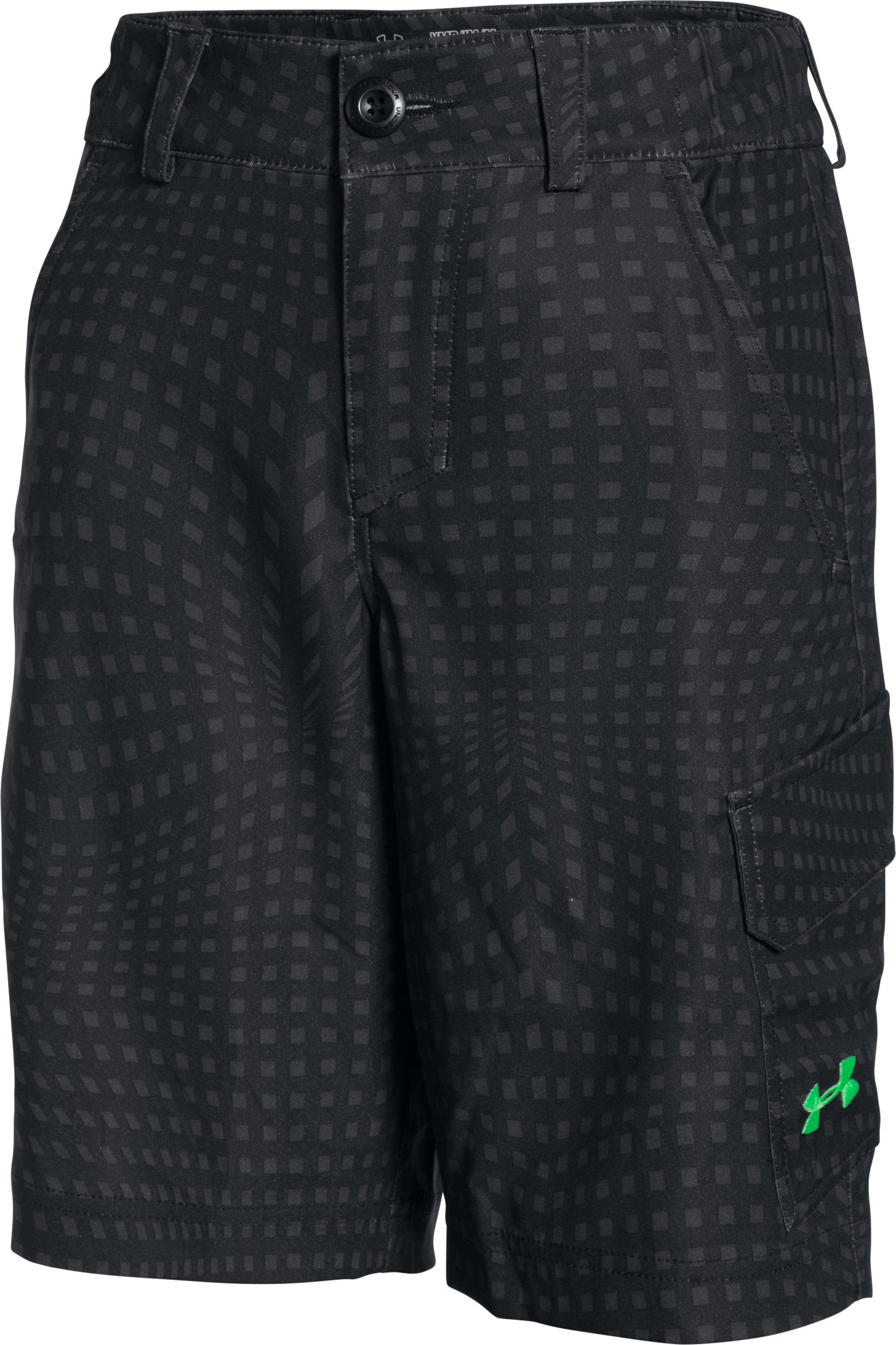 Boys' UA Shark Bait Cargo Shorts, Black ,
