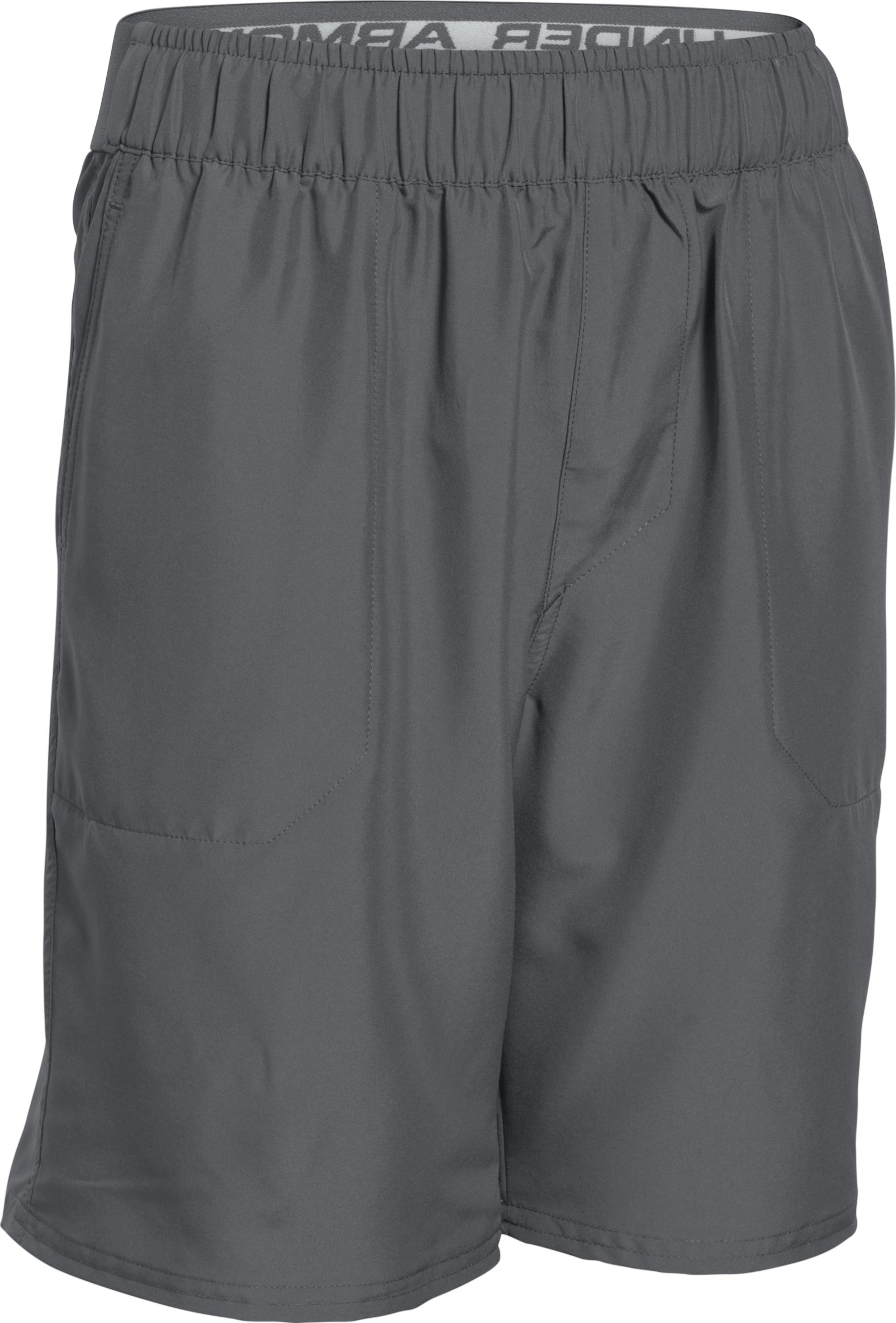 Boys' UA Coastal Amphibious Boardshorts , Graphite, zoomed image