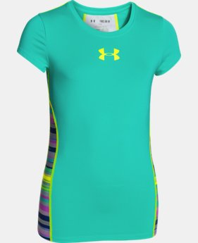 Girls' UA HeatGear® Armour Short Sleeve LIMITED TIME: FREE SHIPPING  $24.99