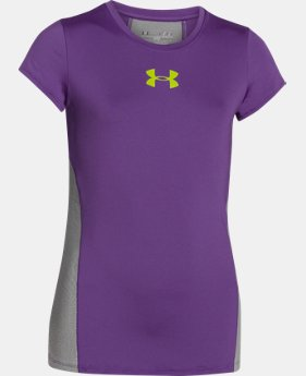 Best Seller Girls' UA HeatGear® Armour Short Sleeve LIMITED TIME: FREE U.S. SHIPPING 3 Colors $24.99