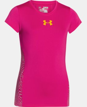 Girls' UA HeatGear® Armour Short Sleeve  1 Color $18.99