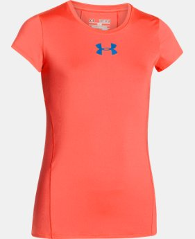 Best Seller Girls' UA HeatGear® Armour Short Sleeve LIMITED TIME: FREE U.S. SHIPPING 1 Color $24.99