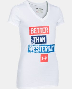 Girls' UA Better V-Neck  1 Color $11.24
