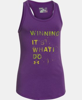 Girls' UA Winning Tank LIMITED TIME: FREE U.S. SHIPPING 1 Color $14.99