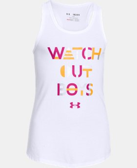 Girls' UA Watch Out Tank LIMITED TIME: FREE U.S. SHIPPING 1 Color $14.99