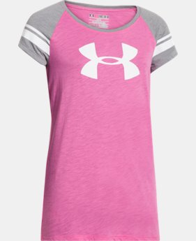 Best Seller Girls' UA Big Logo Branded Raglan LIMITED TIME: FREE SHIPPING  $18.99