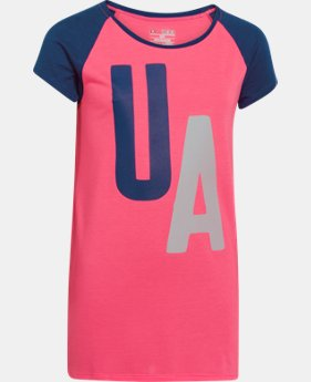 Girls' UA Big Logo Branded Raglan  2 Colors $14.99 to $18.99