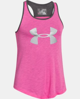 Girls' UA Big Logo Tank LIMITED TIME: FREE SHIPPING 1 Color $22.99