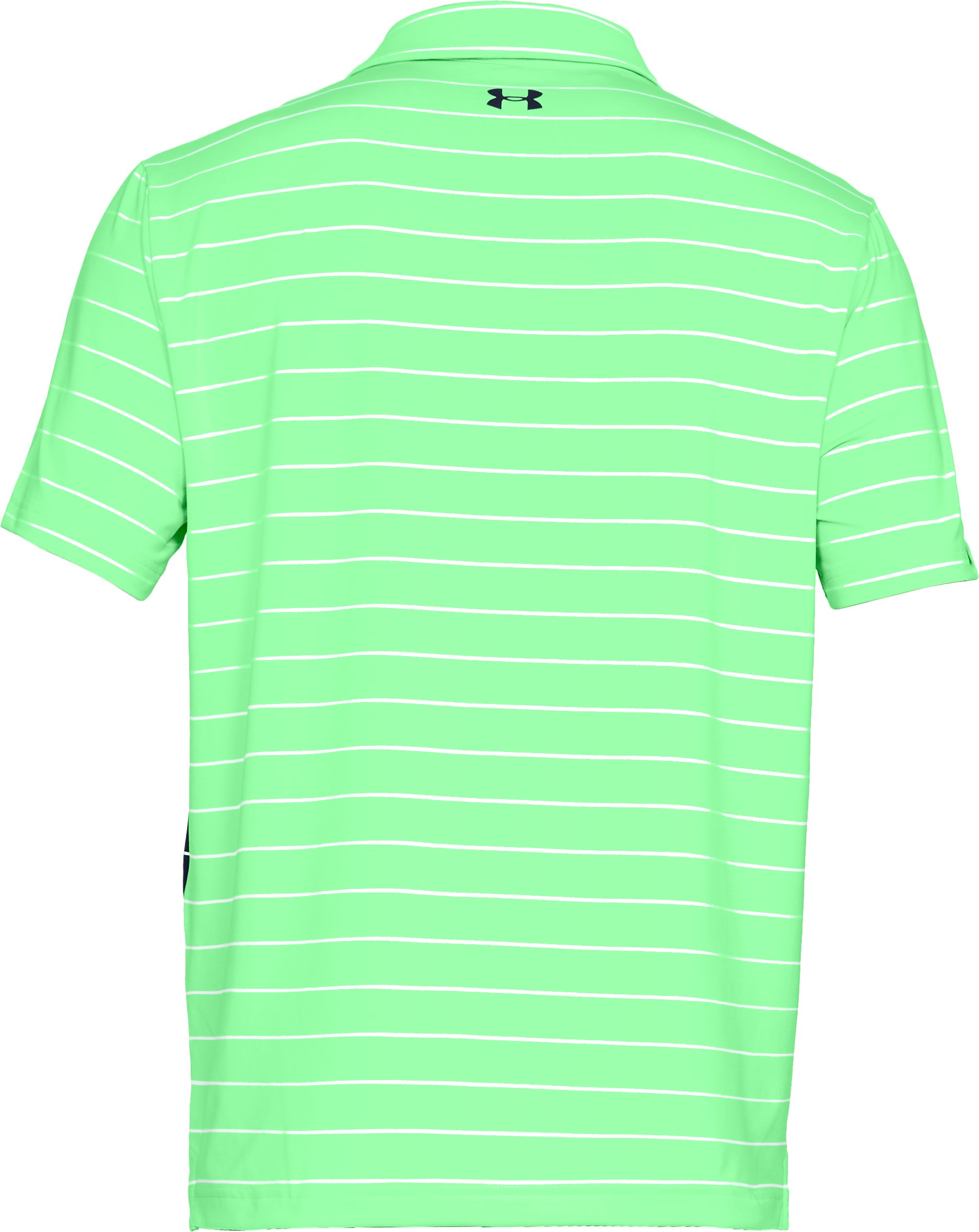 Men's UA Playoff Polo, GREEN TYPHOON,