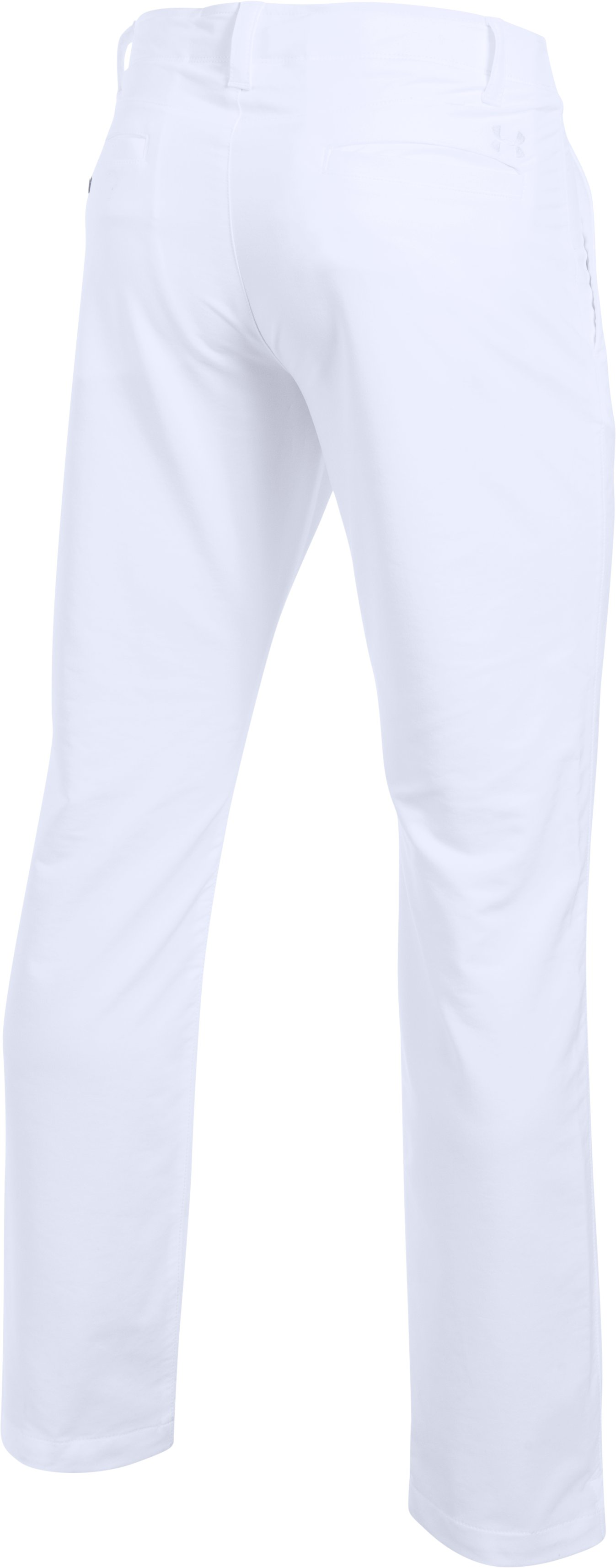 Men's UA Match Play Golf Pants — Tapered Leg, White, undefined