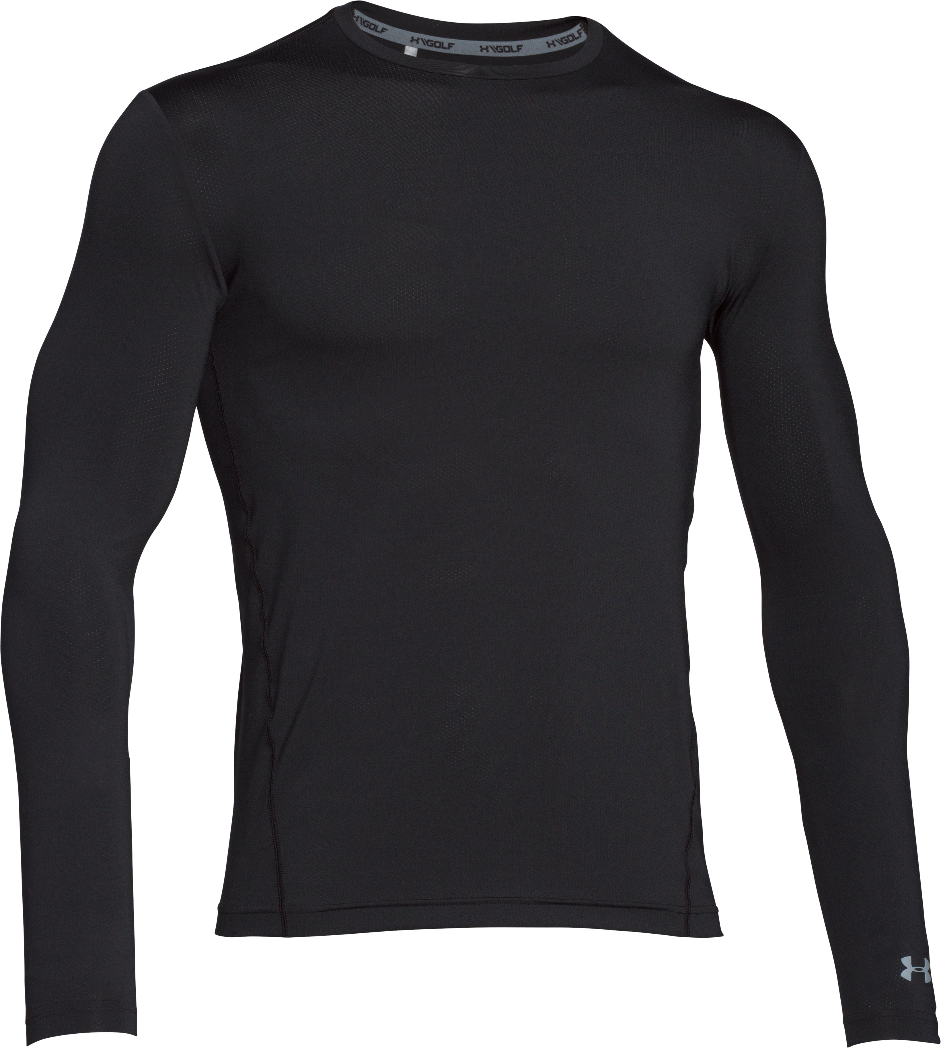 Men's UA Golflayer Long Sleeve, Black , undefined