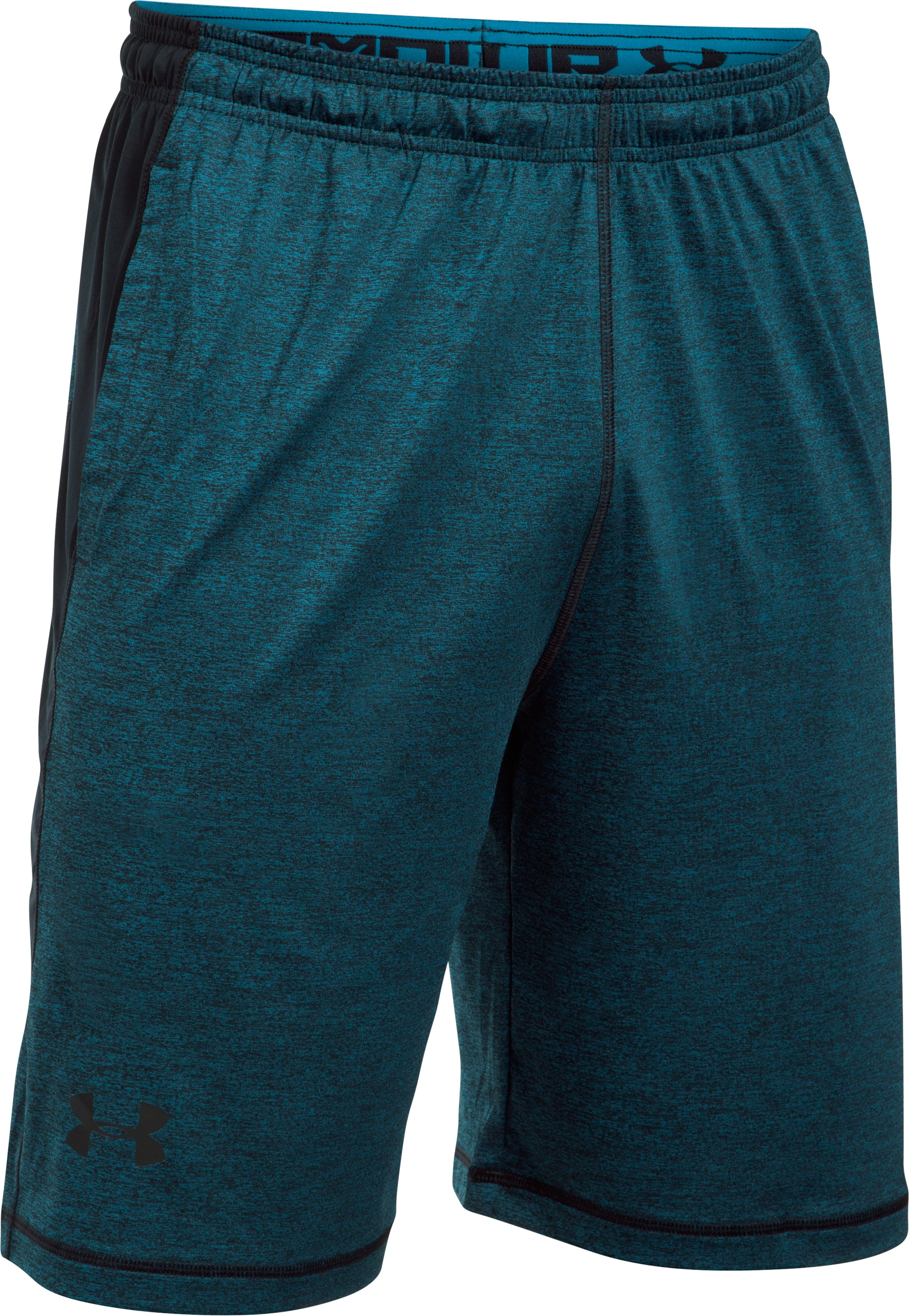 "Men's UA Raid Printed 10"" Shorts, BAYOU BLUE,"