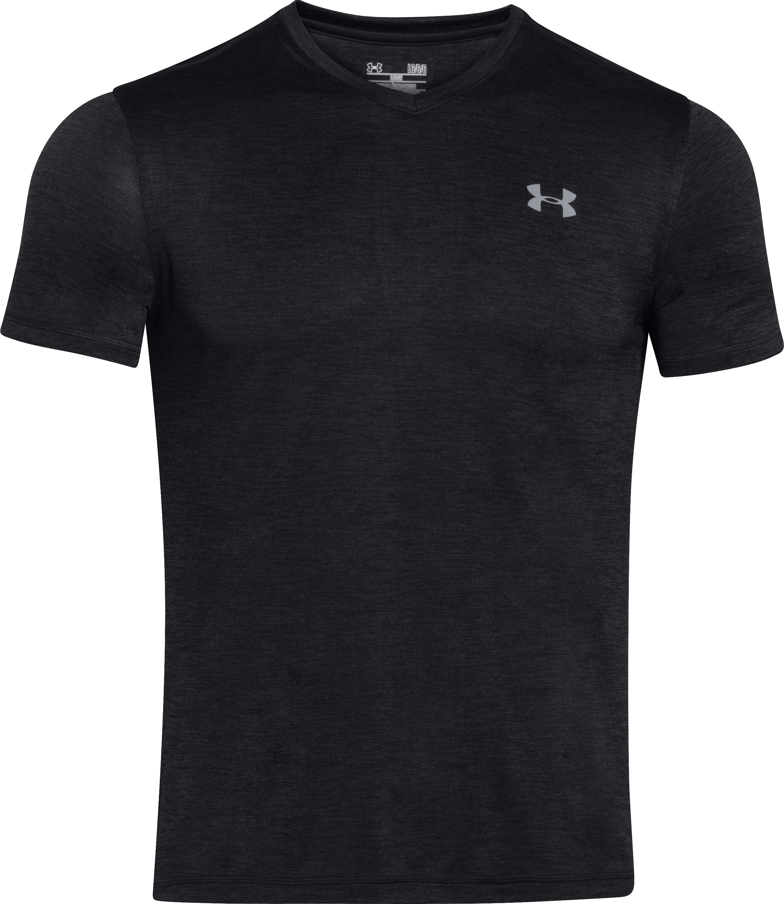 Men's UA Tech™ V-Neck T-Shirt, Black ,
