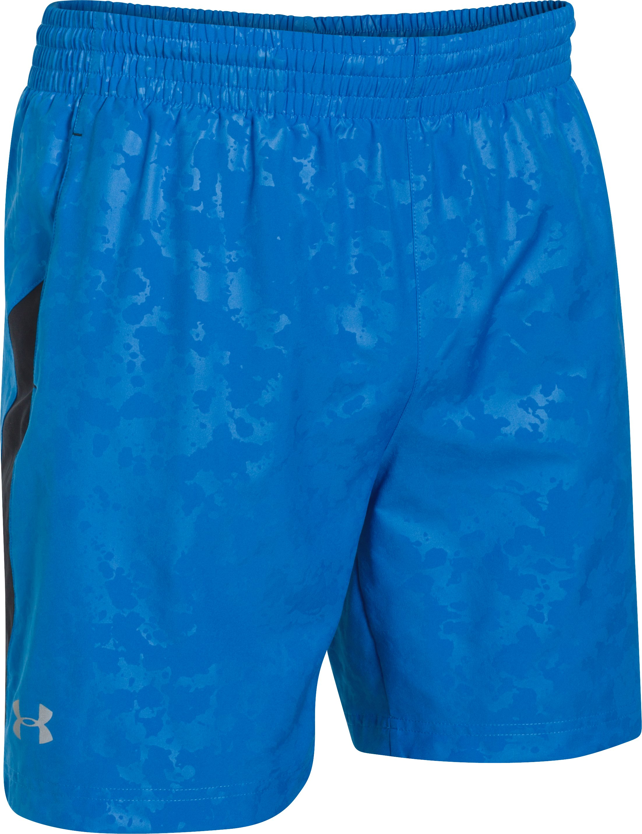 "Men's UA Launch Run 7"" Printed Shorts, BLUE JET,"