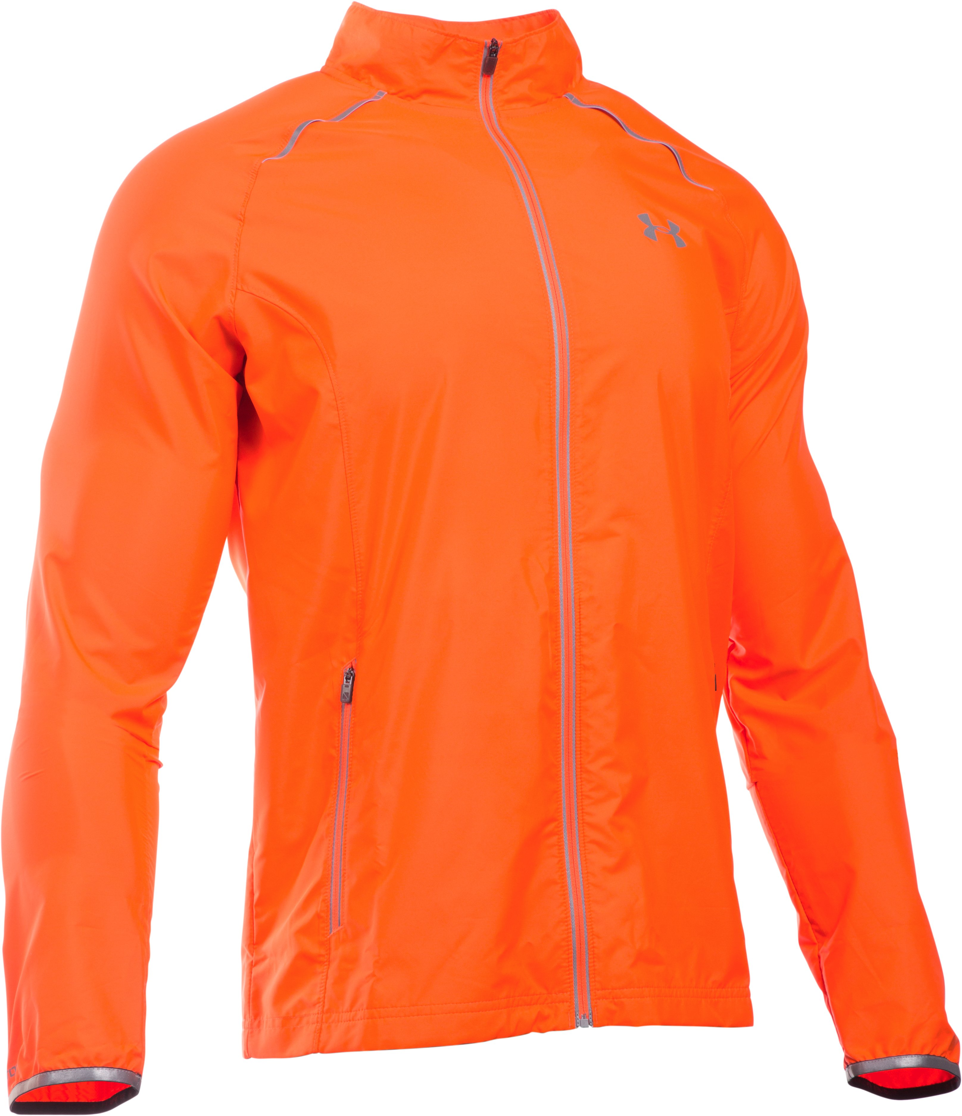 Men's UA Storm Launch Run Jacket, BETA ORANGE