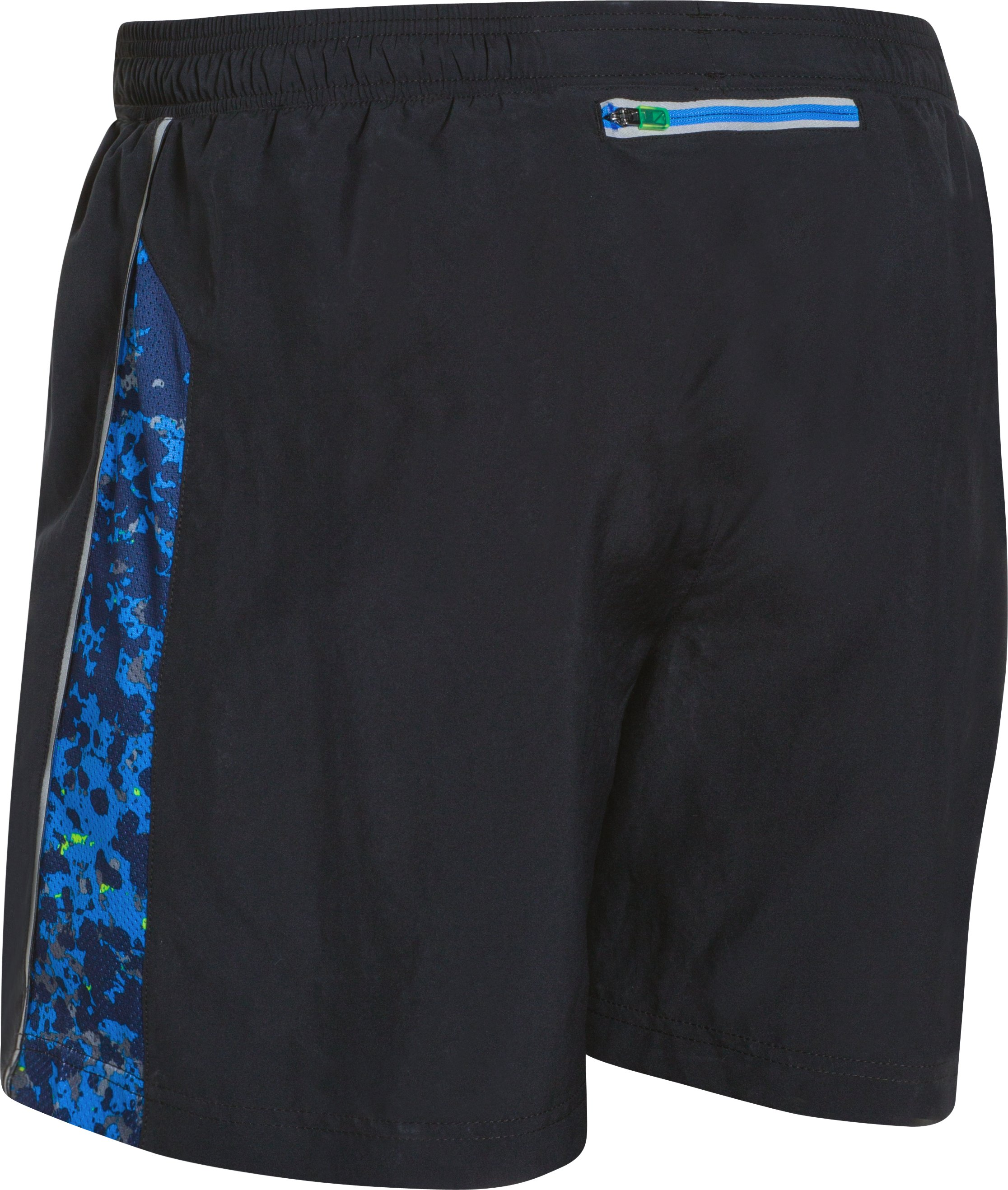 "Men's UA Launch Reflect 5"" Run Shorts, Black , undefined"
