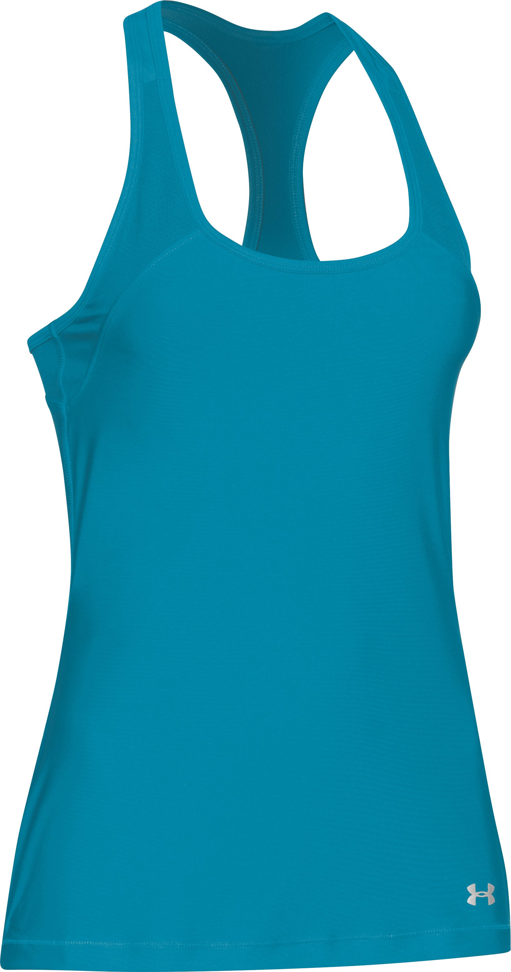 Women's UA HeatGear® Armour Mesh Tank, Pacific,