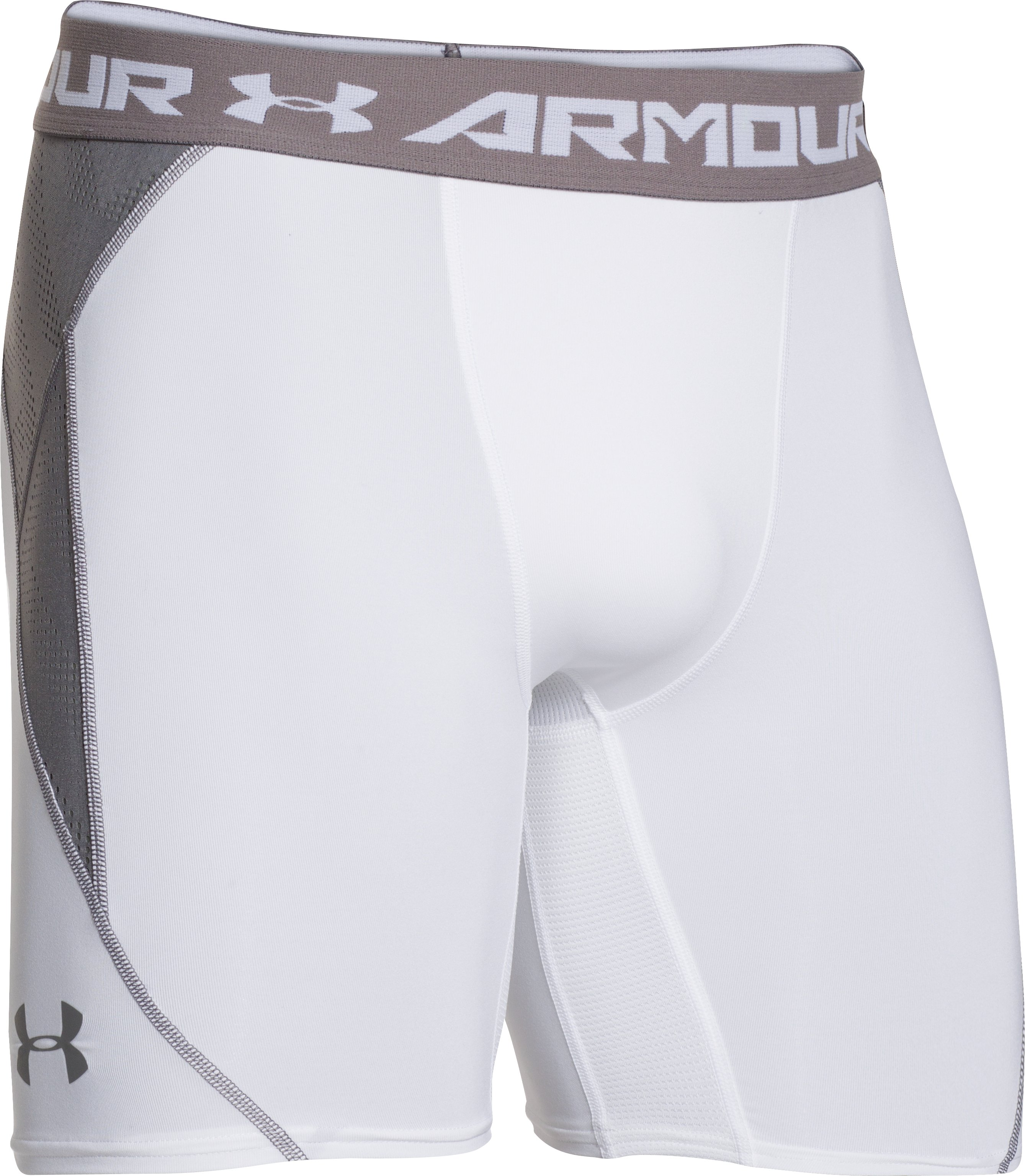 UA HeatGear® ArmourVent™ Compression Shorts, White