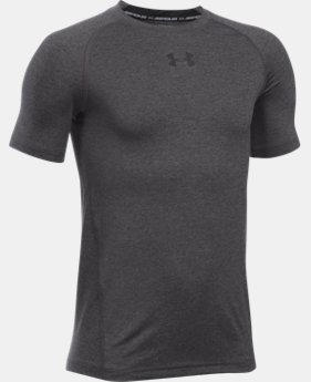 Boys' UA HeatGear® Armour Short Sleeve Fitted Shirt  2 Colors $16.99